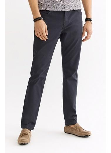 Avva Erkek  5 Cepli Armürlü Slim Fit Pantolon A01S3072 Antrasit